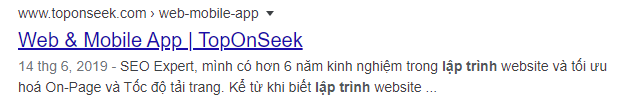 Meta description của Top On Seek