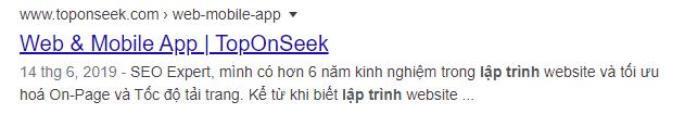 Meta description của Top On Seek