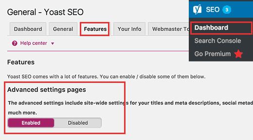 Bước 1 của thêm meta description vào WordPress