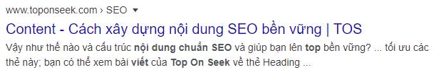 """Thẻ mô tả meta description  """"Xây dựng nội dung Seo"""""""
