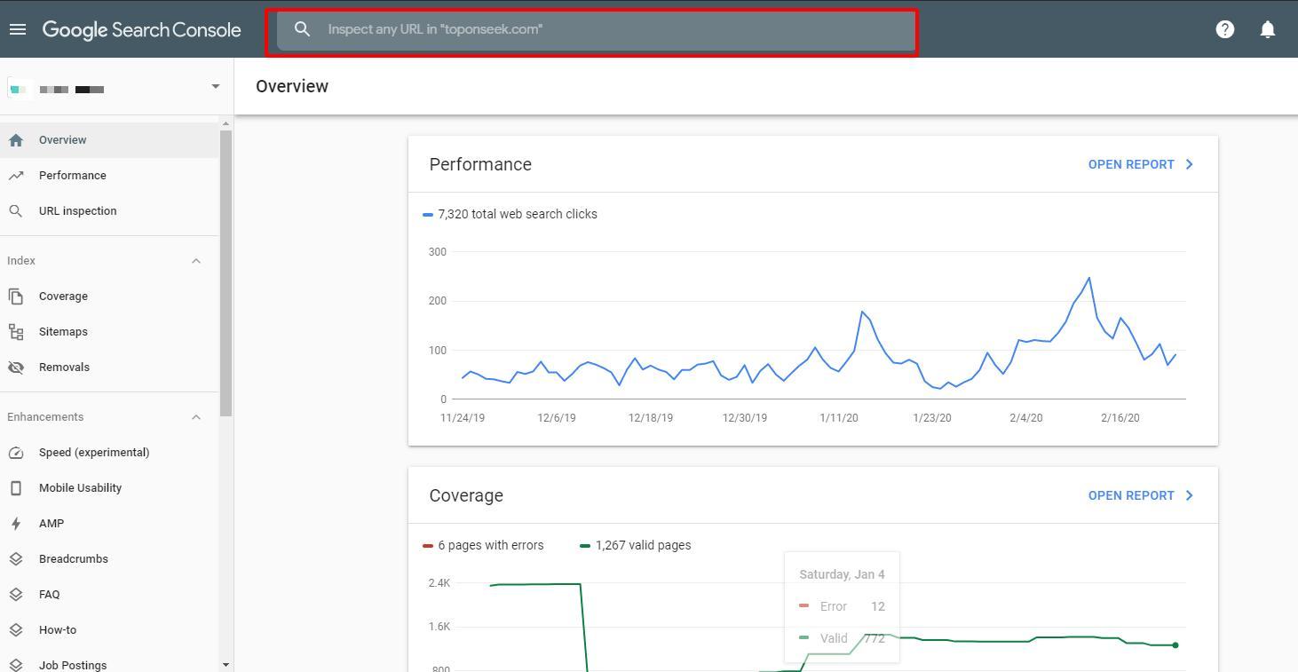 Công cụ kiểm tra URL của Google Webmaster Tool