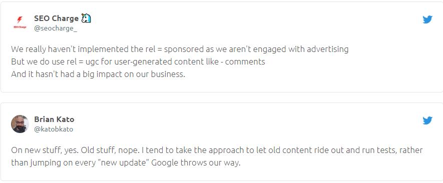 Thảo luận về các thay đổi của Google