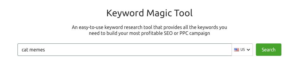Công cụ keyword magic