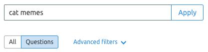 Sử dụng Questions Filter