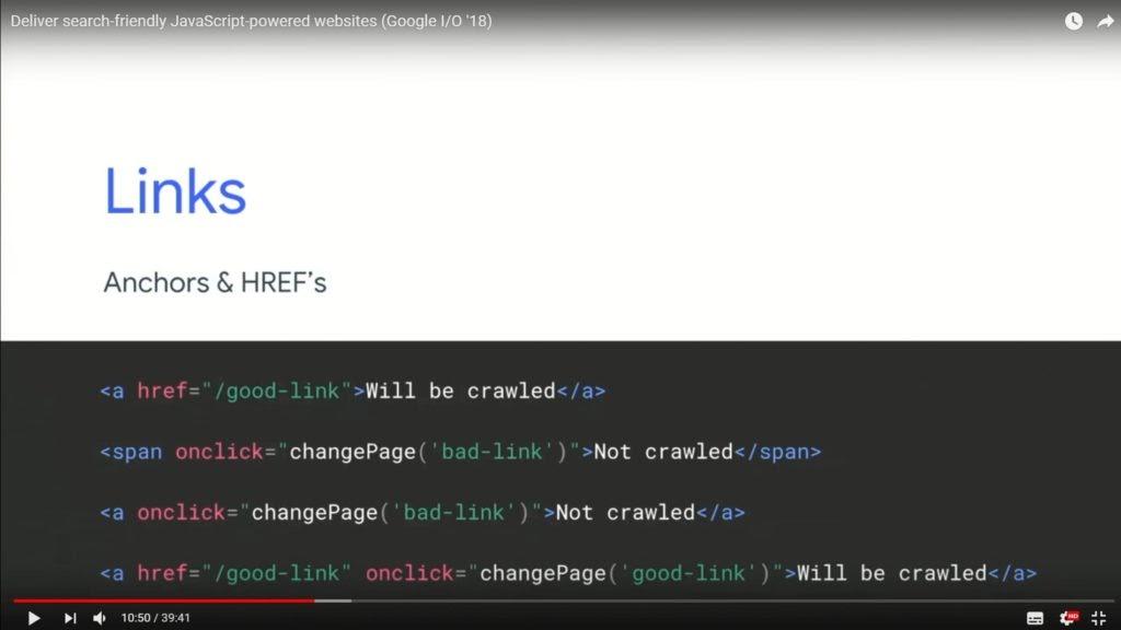 Links - SEO JavaScript