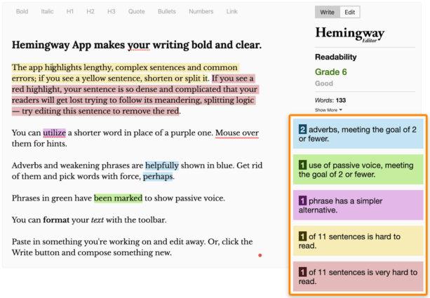 một công cụ dựa trên trình duyệt miễn phí giúp bạn đơn giản hóa nội dung của mình bằng cách sử dụng các câu, đoạn văn và từ đơn giản hơn.
