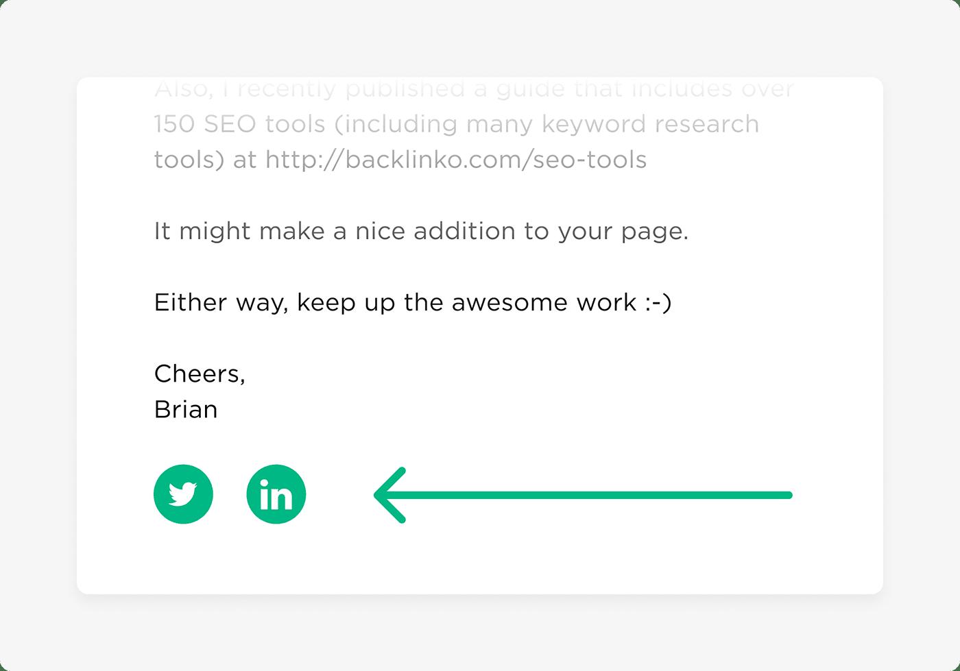 Thêm liên kết vào hồ sơ xã hội của bạn trong chữ ký của bạn