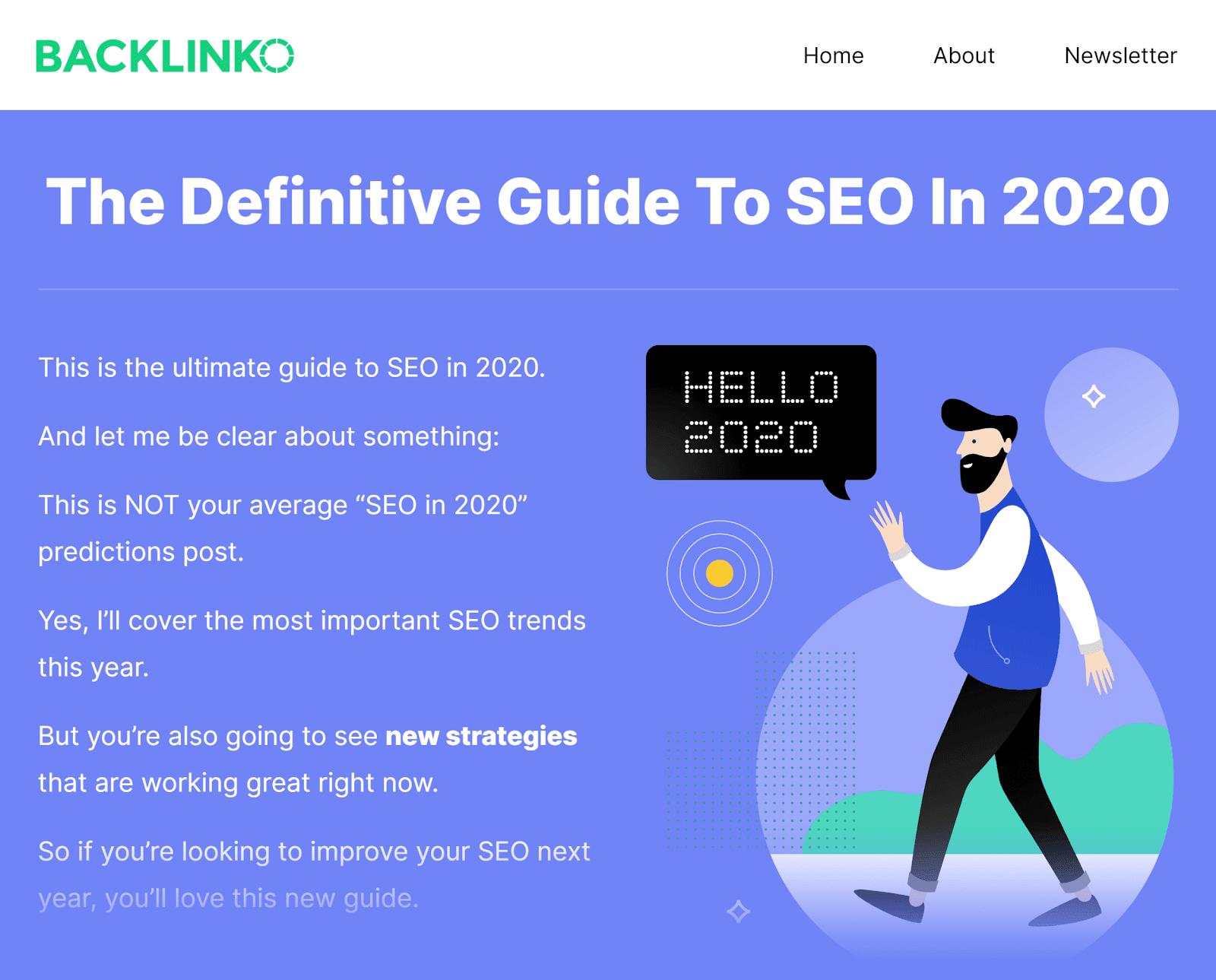 Backlinko - SEO bài viết năm nay