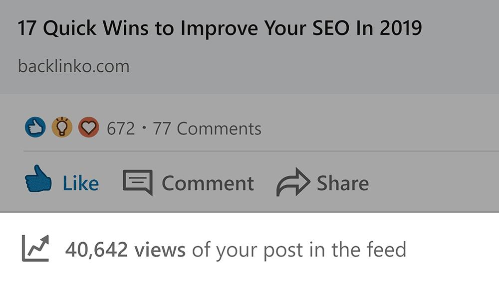 LinkedIn lượt xem bài