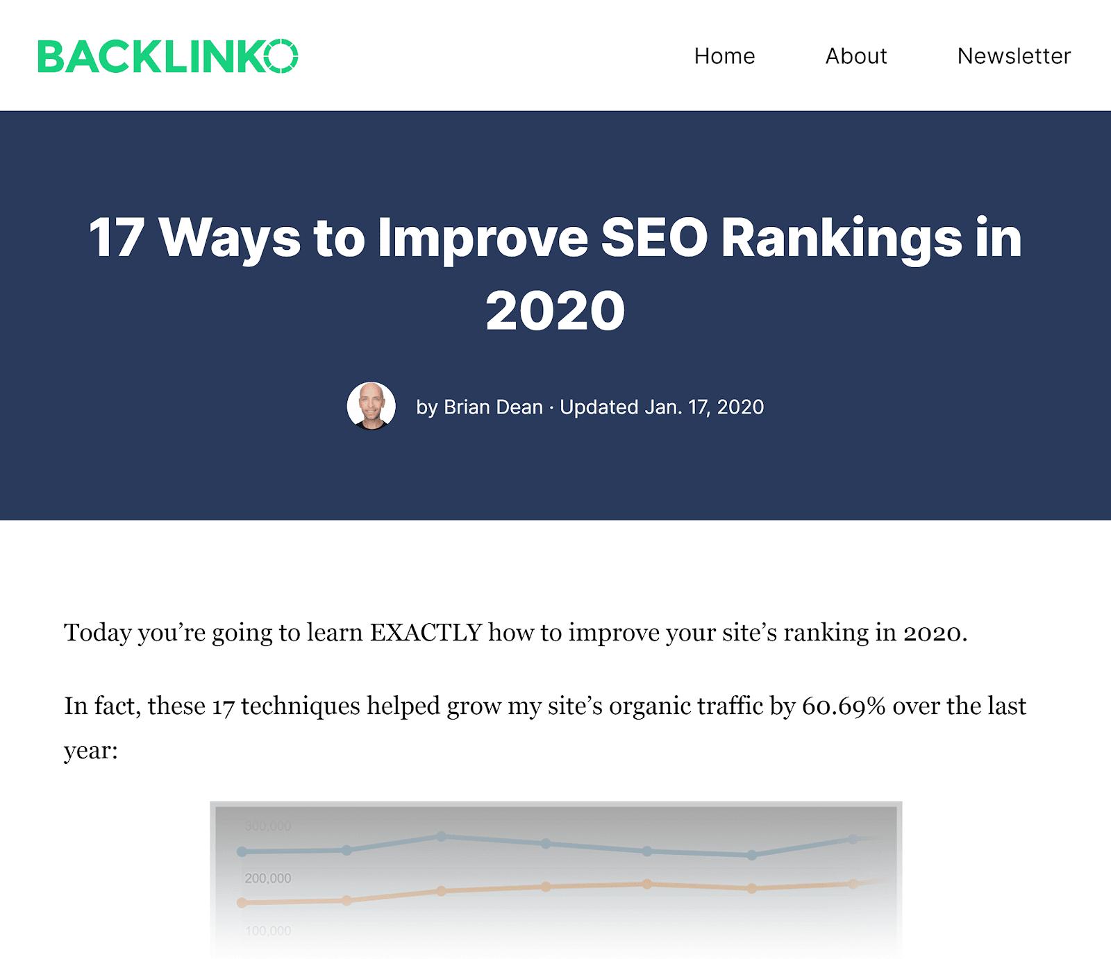 Backlinko - Cải thiện bài viết SEO của bạn
