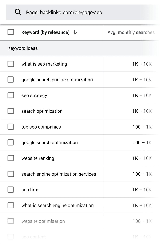Keyword Planner - Ý tưởng từ khóa - Mẹo tiếp thị nội dung
