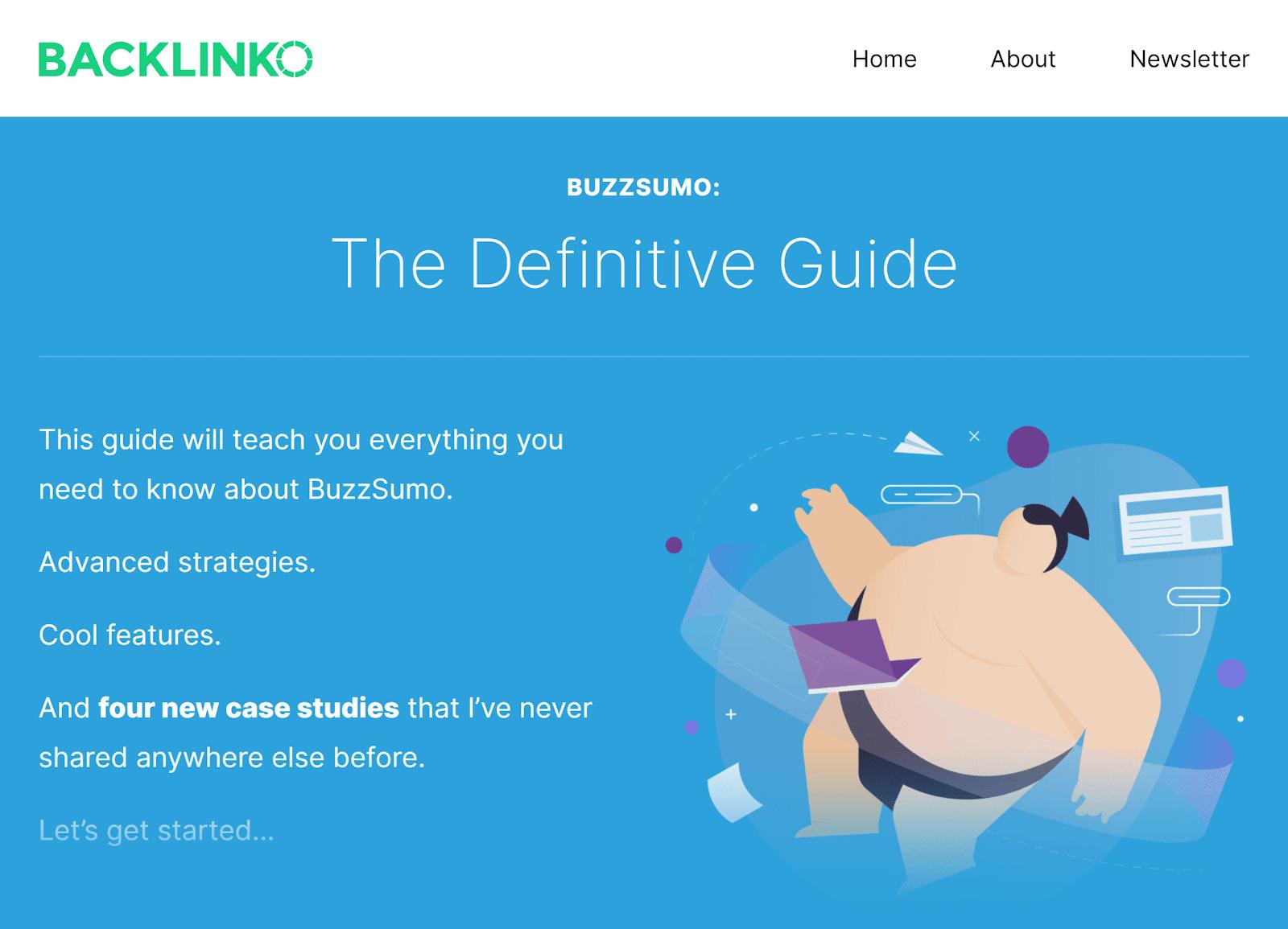 Backlinko - Hướng dẫn BuzzSumo - Mẹo tiếp thị nội dung