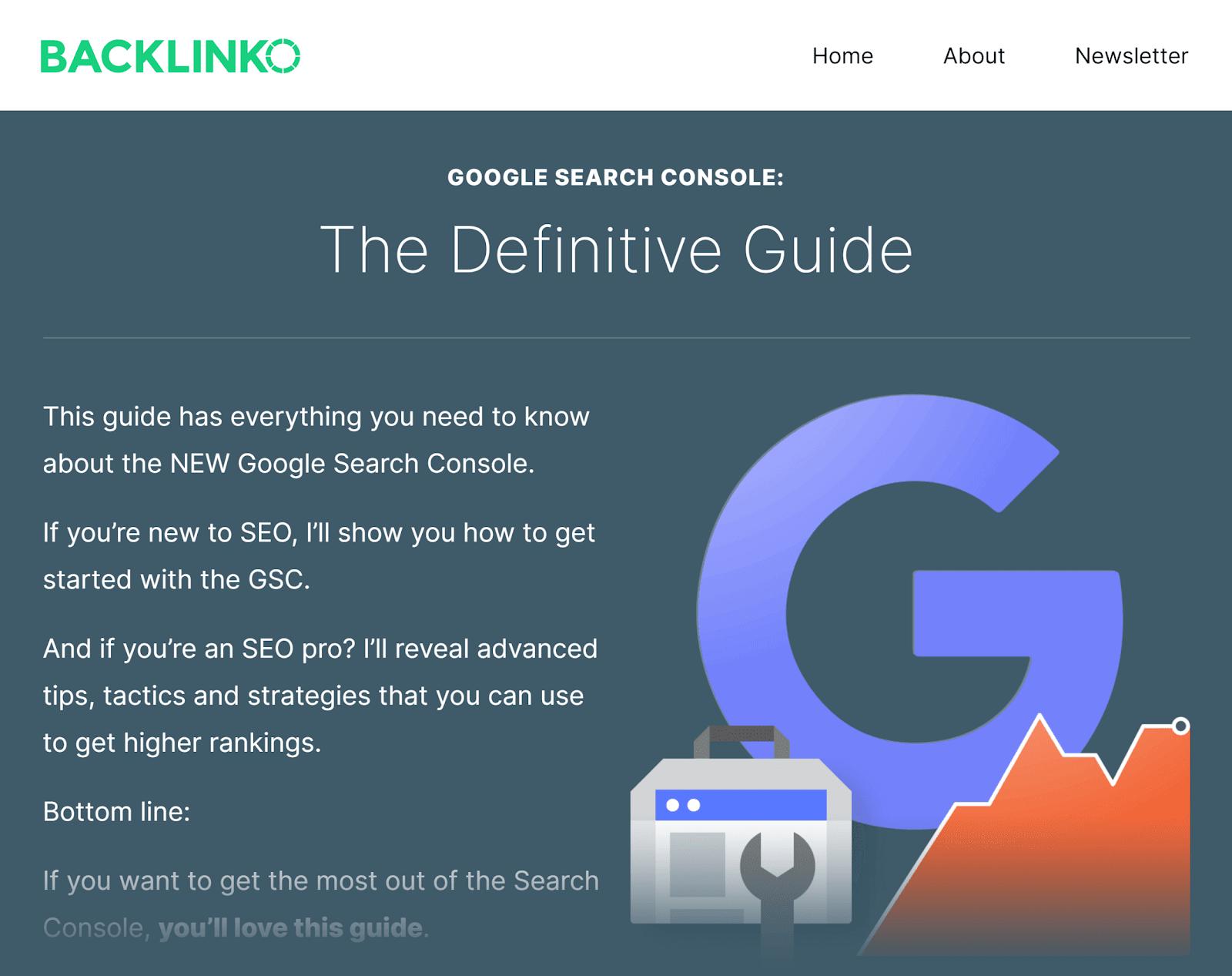 Backlinko - Hướng dẫn Google Search Console - Mẹo tiếp thị nội dung