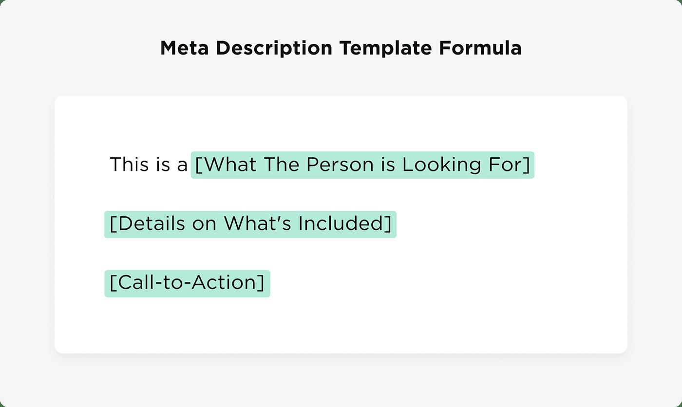 Công thức mẫu mô tả Meta