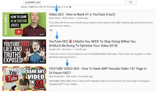 cách seo web hiệu quả - Tiêu đề seo YouTube