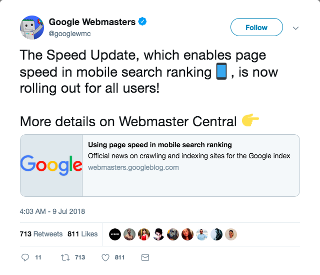 Tweet của Google Webmaster