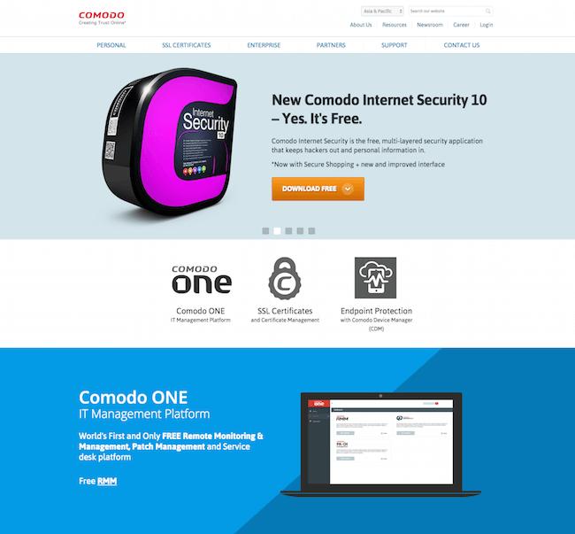Comodo cung cấp SSL bán chạy nhất trên thế giới