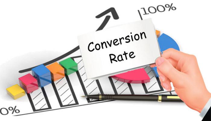Conversion Rate  là một công thức dùng để so sánh tổng số khách truy cập vào một trang web với số người trong số đó trở thành khách hàng trả tiền, người đăng ký hoặc người dùng