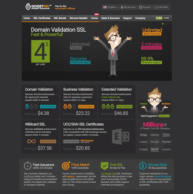GoGetSSL nhà cung cấp SSL miễn phí trong 90 ngày