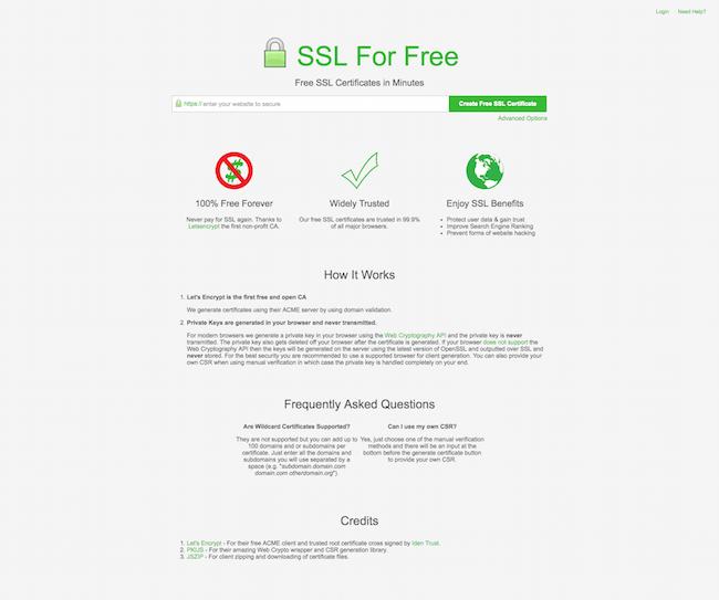SSL For Free tổ chức cung cấp SSL phi lợi nhuận