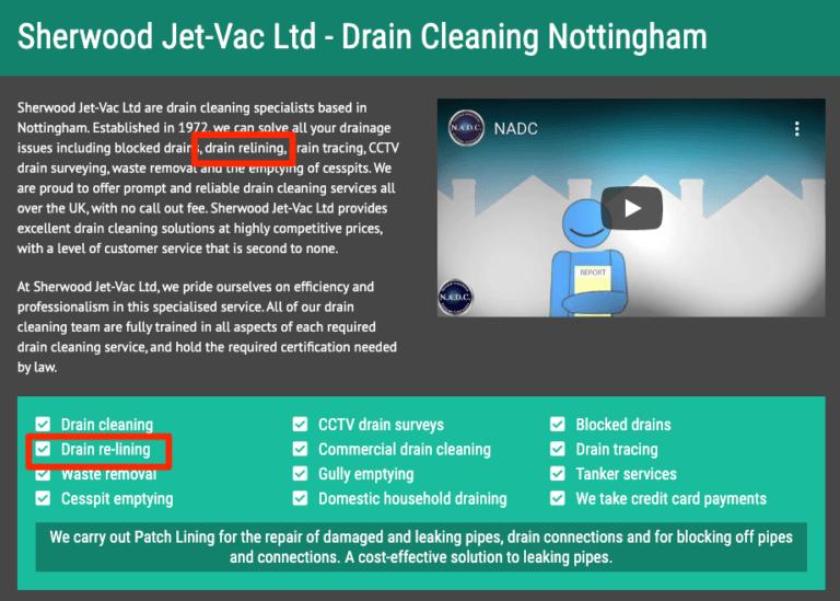 Ví dụ website công ty ống nước