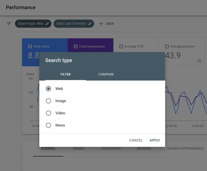 Phân tích lượng truy cập từ News tab bằng Google Search Console