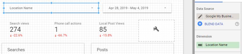 Cách làm report Google My Business bằng Data studio