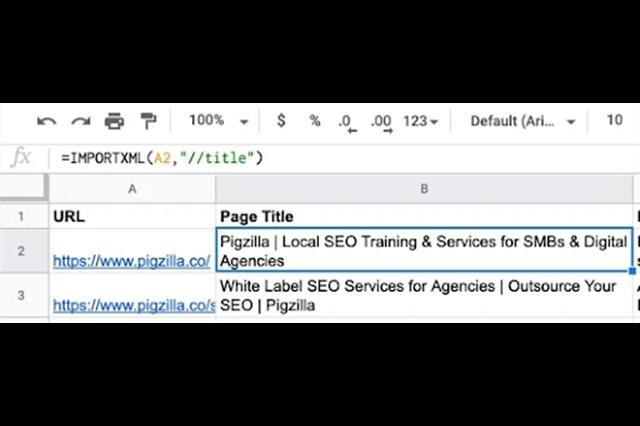 Sử dụng hàm IMPORTXML trong Google sheet để tối ưu SEO
