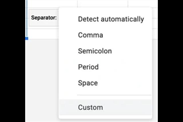 Tách văn bản thành các cột trong Google Sheet SEO