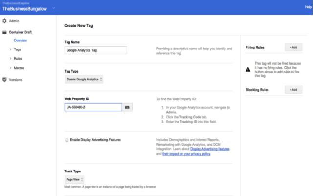 Gắn thẻ Google Analytics trong Google Tag Manager
