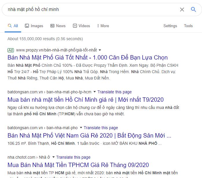 SEO website bất động sản để hiển thị trên tìm kiếm