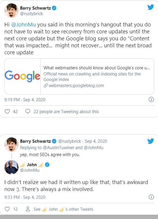 Mâu thuẫn từ Google