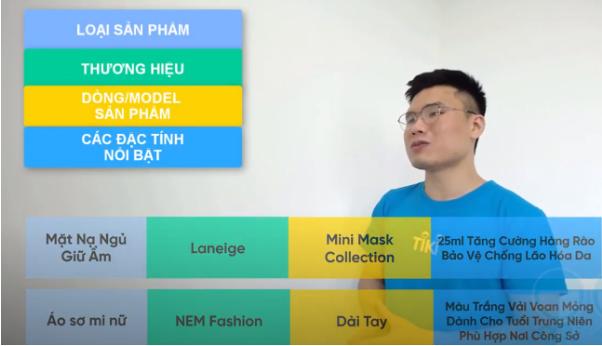 Cấu trúc tên sản phẩm khi SEO Tiki