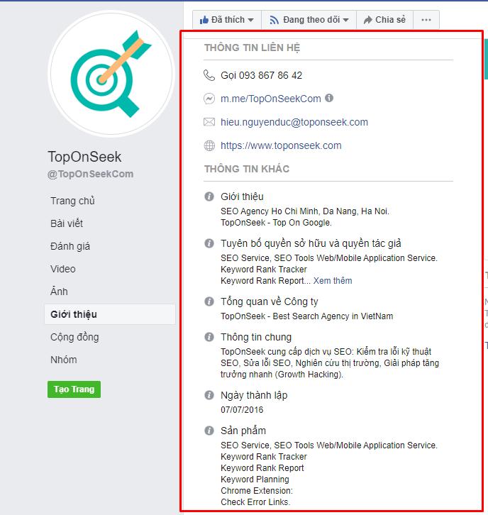 SEO website bất động bằng Facebook
