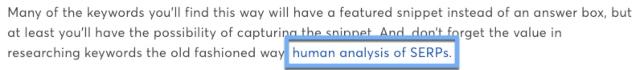 Ví dụ về cách sử dụng Anchor Text khi đi Internal link