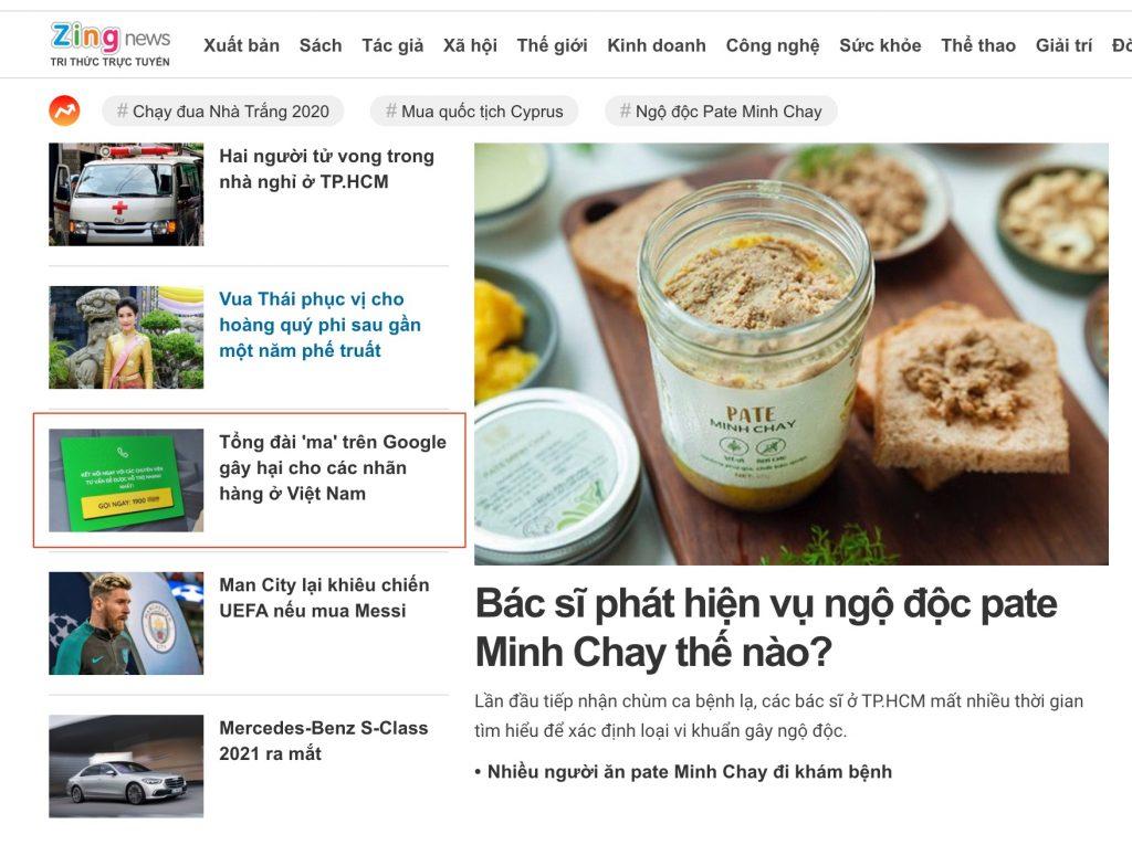 Hình ảnh Báo điện tử ZingNews đưa tin: Link
