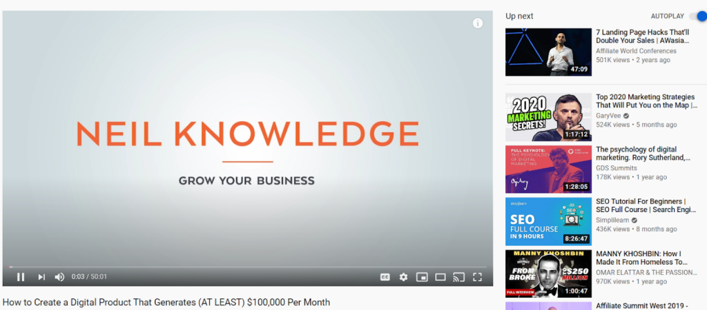 Những video nổi bật mà Youtube gợi ý