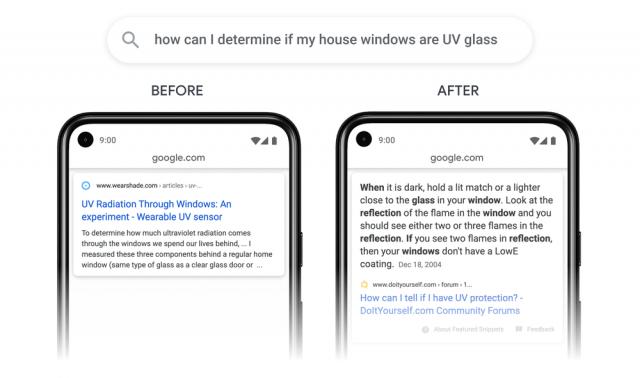 Thể hiện tính năng mới của Google trên trang kết quả tìm kiếm