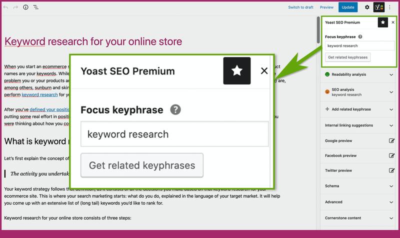 Nghiên cứu từ khóa trên Yoast SEO Premium