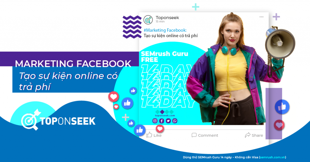 Marketing Facebook: Tạo sự kiện online có trả phí