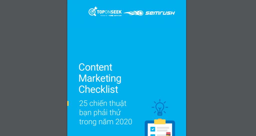 Content Marketing Checklist: 25 chiến thuật bạn phải thử trong năm 2020