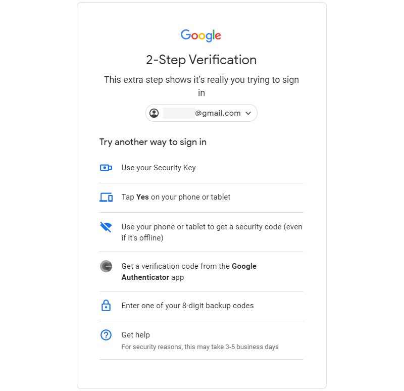 Xác thức 2 yếu tố tài khoản Google sẽ tăng độ bảo mật trước những người lạ
