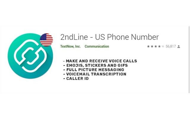 2ndLine - Ứng dụng cung cấp số điện thoại ảo miễn phí để tạo Gmail
