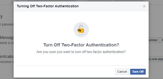 Tắt tính năng Two-Factor Authentication khi không cần thiết