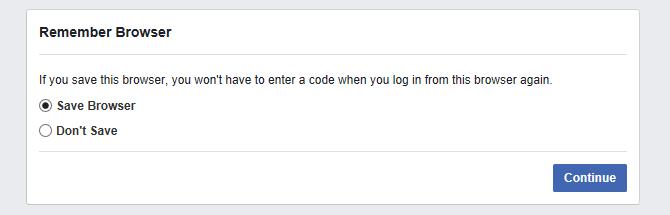 Chức năng nhớ tài khoản trên Facebook