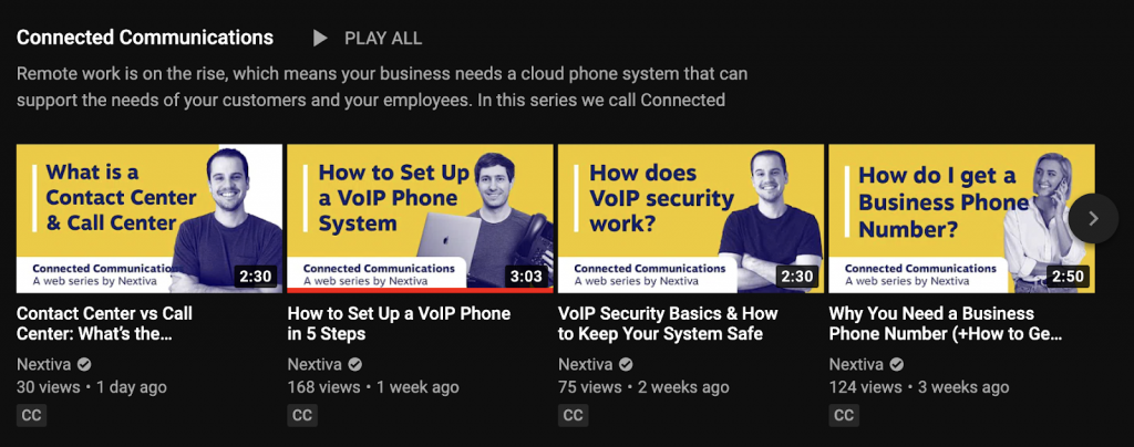 Danh sách phát đã được tối ưu kênh Youtube