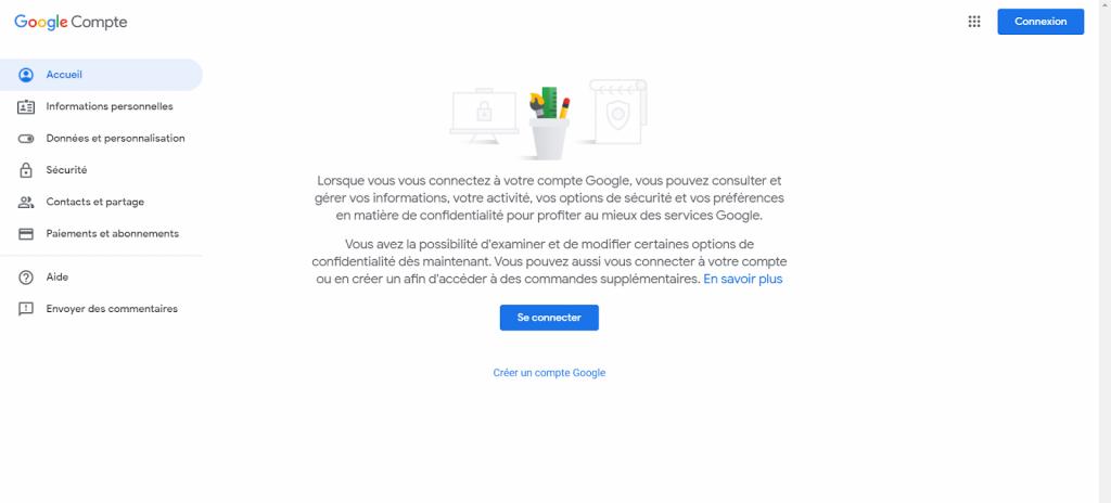 Cách tạo tài khoản Google: Đầu tiên đi đến Account.google.com