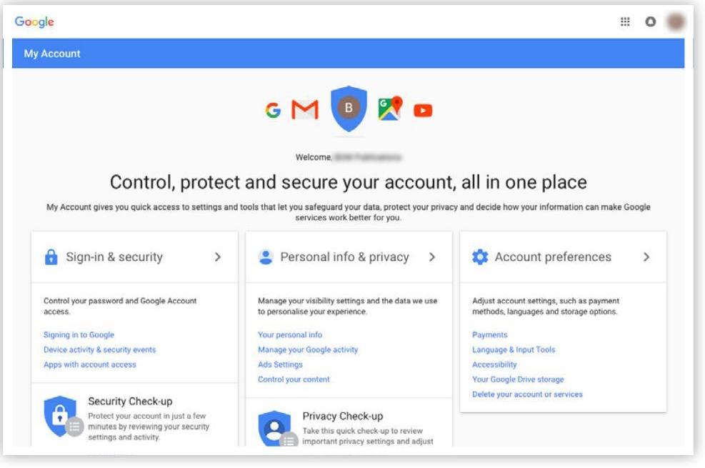 Tạo Tài khoản Google: bước 4 - Tài khoản Google chính