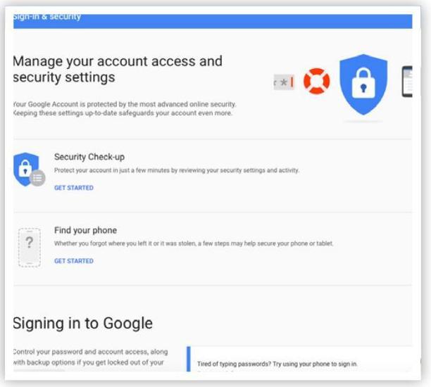 Bước 5: Quản lý quyền truy cập tài khoản Google và cài đặt bảo mật