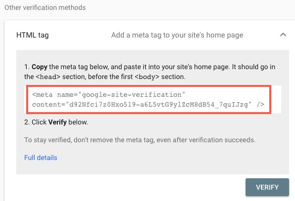 Chọn ''HTML Tag'' và nhận code HTML